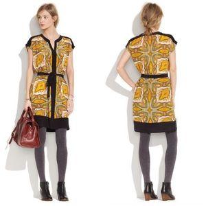 Broadway & Broome Silk Paisley Shirt Dress